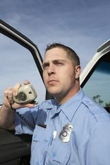 Paramedic using CB radio