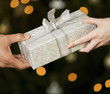 A present being exchanged