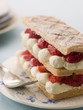 Mille Feuille of Strawberries with Cream