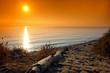 Leinwandbild Motiv corse  plage sable et galet