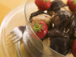 Chocolate Profiteroles with Strawberries and Chocolate Sauce