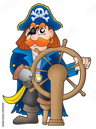 Fotobehang Piraten Pirate captain