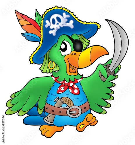 Fotobehang Piraten Pirate parrot