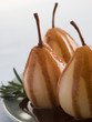 Pear Poached with Rosemary and Chocolate sauce