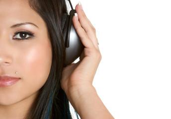 Latina Listening to Music