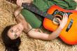 Serious Guitar Woman