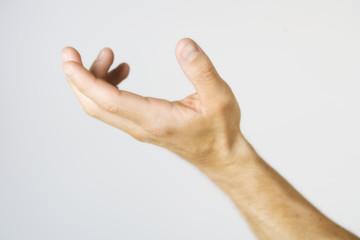 A male nude, hand