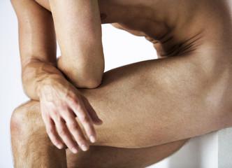 A male nude, legs