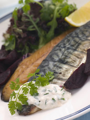 Smoked Mackerel and Beetroot Salad with Horseradish
