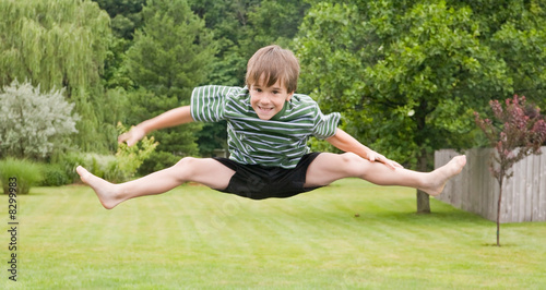Boy Doing Jumps in the Air