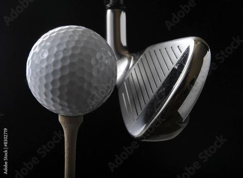 Fototapety, obrazy : Golf club and ball