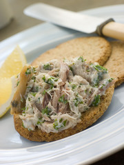 Smoked Mackerel Pate with Oatmeal Biscuits