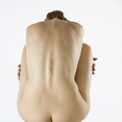 A female nude, back view