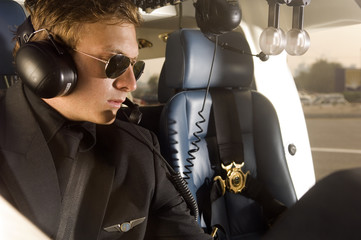 A helicopter pilot
