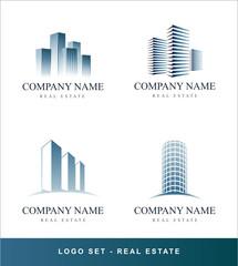 Logo vector set Real Estate concept