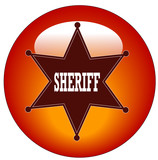 red sheriff web button or icon poster