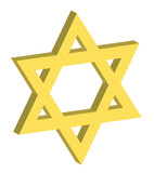 vector illustration of a three dimensional star of david poster