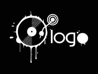 Logo hand on vinyl
