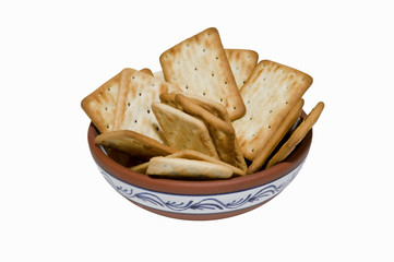 Cookies in plate
