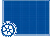 Cog and Blueprint Background poster