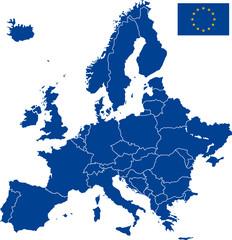 Carte Europe vectorielle