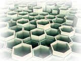 abstract 3d image of hexagon poster
