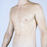 A male nude, mid section