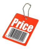 price tag with fake bar code poster