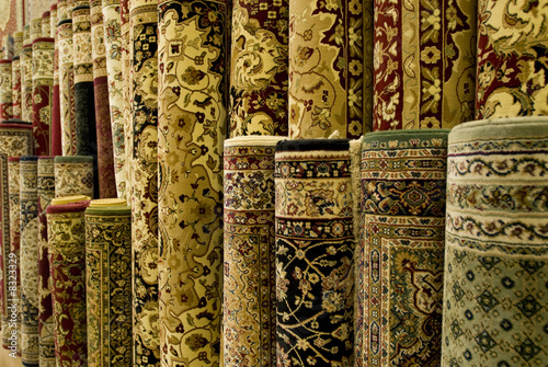 Persian carpets on display - 8323329