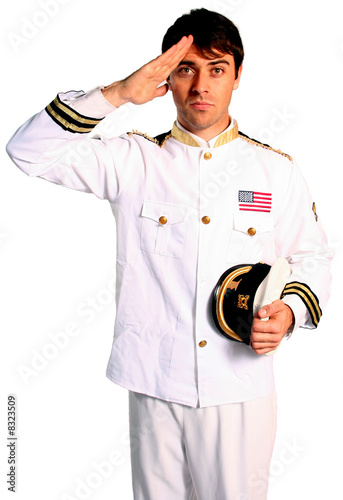 military sailor navy saluting bravery for war conflict or fight