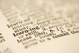 Dictionary entry for learning. poster