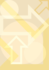 Yellow geometric background with arrows