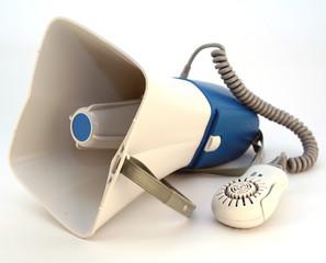 megaphone or loudspeaker