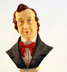 classical music composer portrait bust with elegant