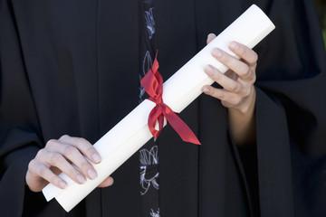 A graduate, close-up