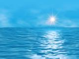 ocean and sun poster