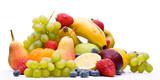 Panorama aus vielen verschiedenen Sorten Obst