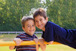 Boys Playing at the Playground