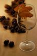Castagne con bicchiere