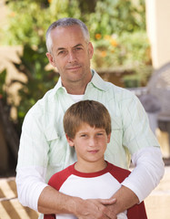 Portrait of a father with his young son
