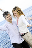 Carefree mature couple poster