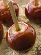 Toffee Apples on Crushed Toasted Almonds