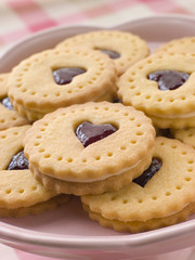 Jam and Cream Heart Biscuits