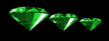 3d Emerald Gem Isolated poster