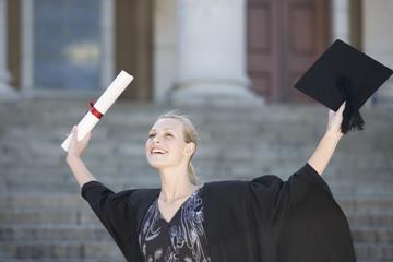 A graduate celebrating