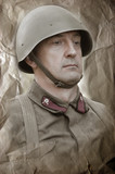Soviet soldier. WW2 reenacting poster