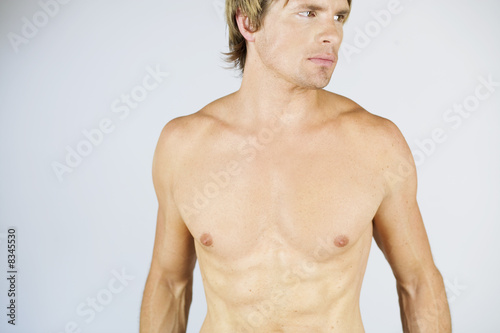 A male nude, portrait