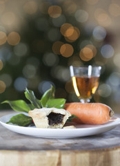 A mince pie for Santa and a carrot for Rudolf