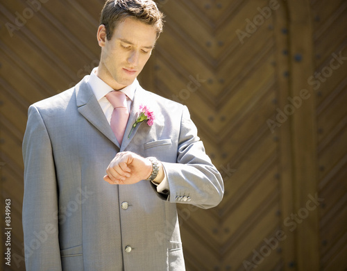 A groom waiting for the bride