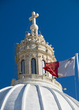 church with maltese flag malta detail poster